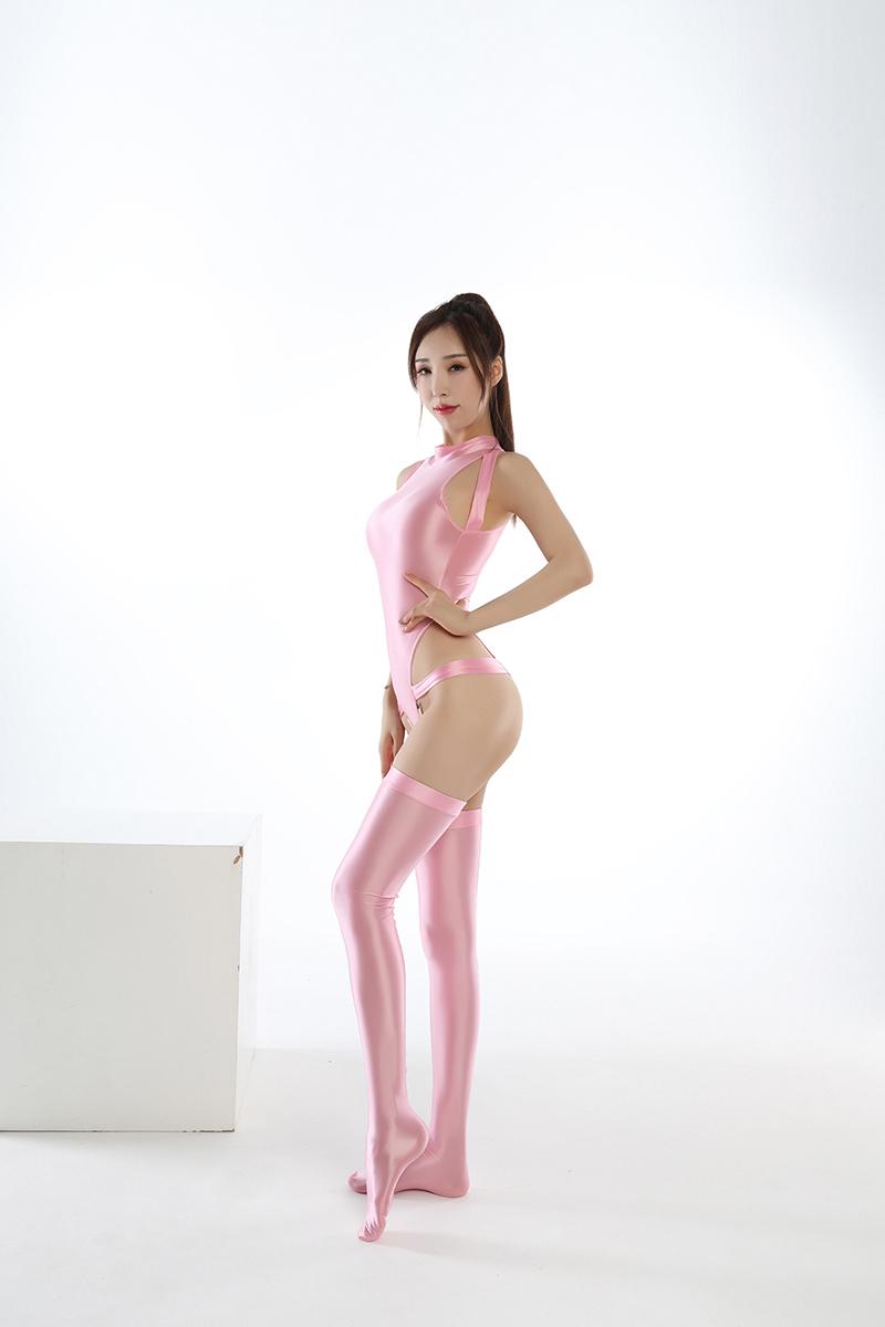 水着上下セット コスプレ衣装 ハイレグレオタード レースクイーンレオタード ピンク フリーサイズ_画像2