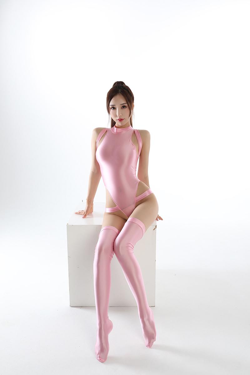 水着上下セット コスプレ衣装 ハイレグレオタード レースクイーンレオタード ピンク フリーサイズ_画像4