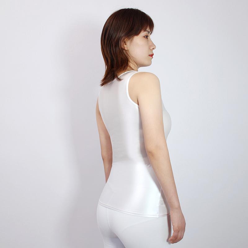 【2020夏最新作】コスプレ衣装 ノースリーブレオタード 伸縮性あり レースクイーンレオタード ホワイト Mサイズ_画像3