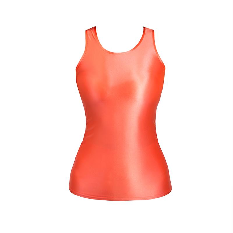 【2020夏最新作】コスプレ衣装 ノースリーブレオタード 伸縮性あり レースクイーンレオタード オレンジ Mサイズ_画像5