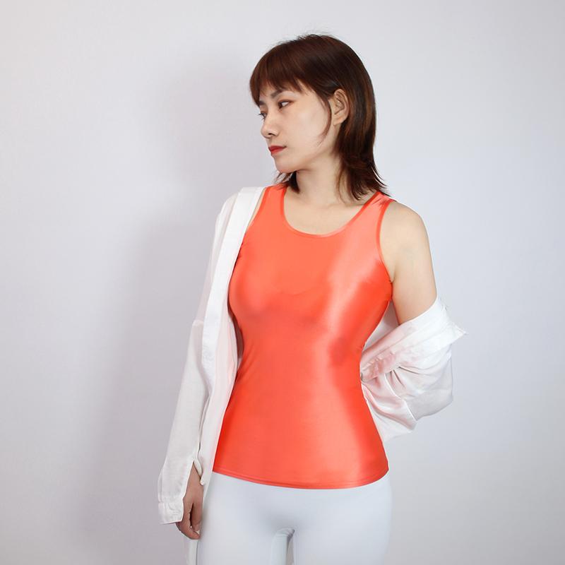 【2020夏最新作】コスプレ衣装 ノースリーブレオタード 伸縮性あり レースクイーンレオタード オレンジ Mサイズ_画像3