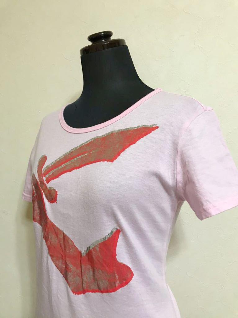 Vivienne Westwood ヴィヴィアン ウエストウッド アングロマニア ビッグロゴ Tシャツ サイズ38 半袖 ピンク インコントロ 日本製 87101M