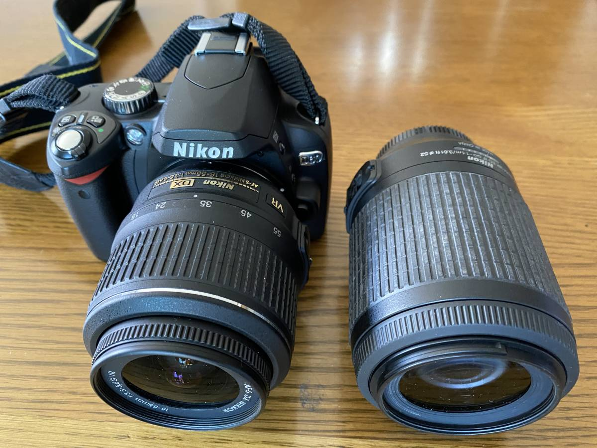 Nikon ニコン D60WZ D60 ダブルレンズセット AF-S NIKKOR 18-55mm、55-200mm)一眼レフ 手ぶれ補正_画像2