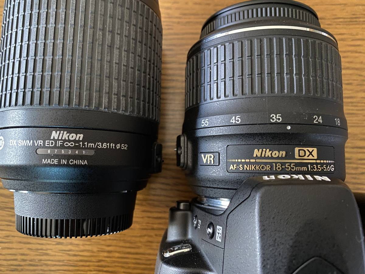 Nikon ニコン D60WZ D60 ダブルレンズセット AF-S NIKKOR 18-55mm、55-200mm)一眼レフ 手ぶれ補正_画像4