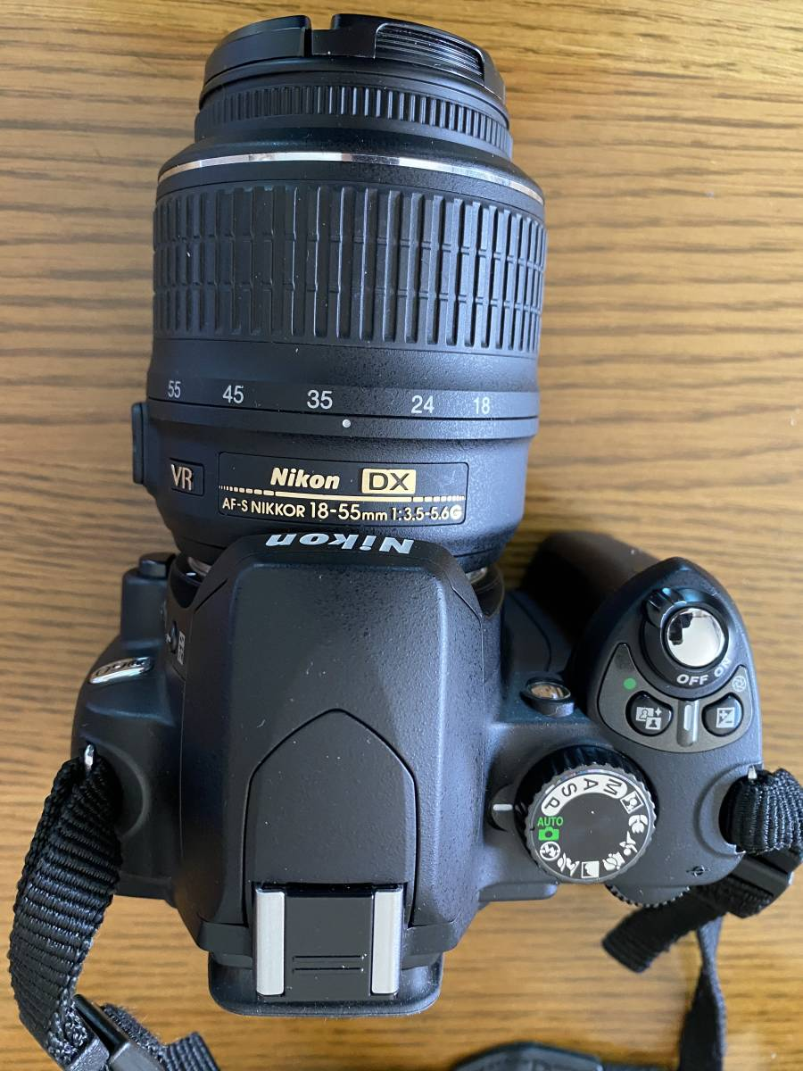Nikon ニコン D60WZ D60 ダブルレンズセット AF-S NIKKOR 18-55mm、55-200mm)一眼レフ 手ぶれ補正_画像3