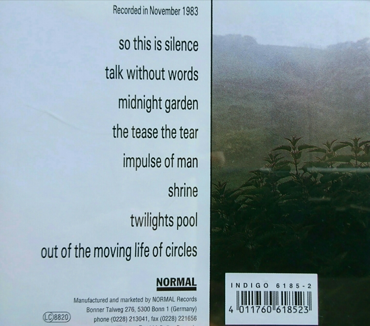 CD【ネオ・サイケ名盤】And Also The Trees『And Also The Trees』1st Album ▽The Cure/Joy Division/Neo Psychedelic/New Wave/_画像2