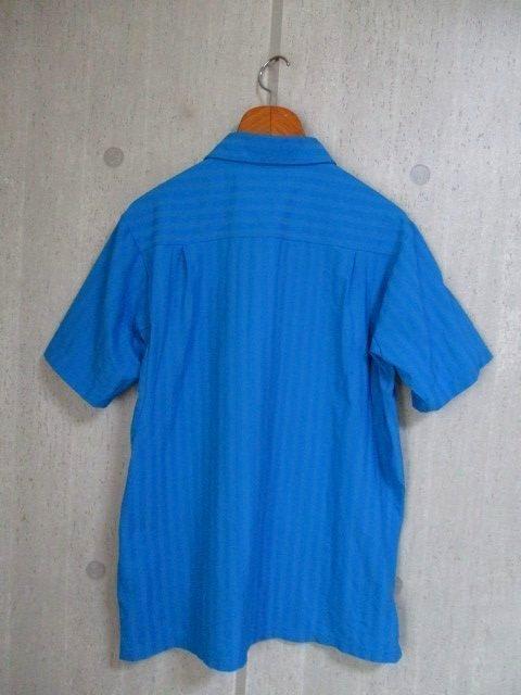 b988 le coq GOLF ルコックゴルフ 半袖ポロシャツ サイズL 水色系 25-8_画像2