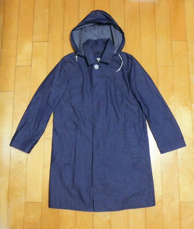 ◎即決◎(Traditional Weatherwear SELBY HOOD COAT 34 青デニム)美品トラディショナルウェザーウェアマッキントッシュシャンブレー