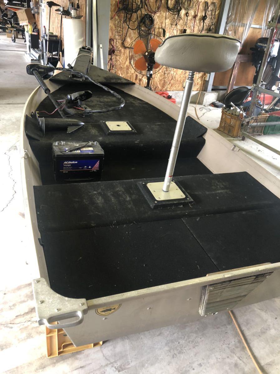 「免許不要 アルミボート シーニンフ10K ポパイ製品 ミンコタ エレキ マウント バッテリー付き」の画像2