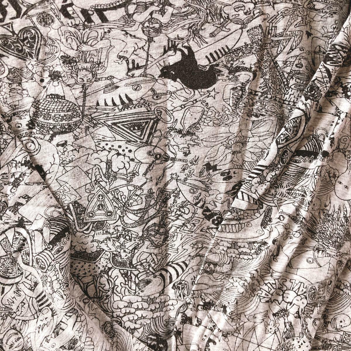 カットソー 総柄カットソー 猫柄 長袖