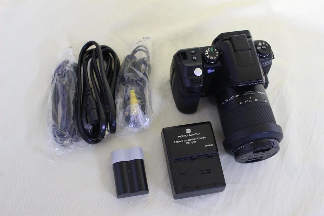 中古品 KONICA MINOLTA α Sweet DIGITAL DG-5D デジタル一眼レフカメラ 交換レンズ AF DT18-70 代引き可_画像1