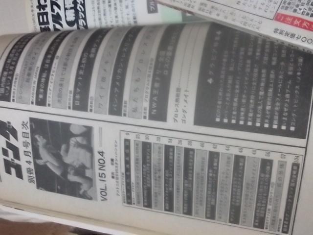 日本スポーツ。別冊ゴング1983年4月号。マスカラス。馬場。プロレス。アリ。猪木_画像3