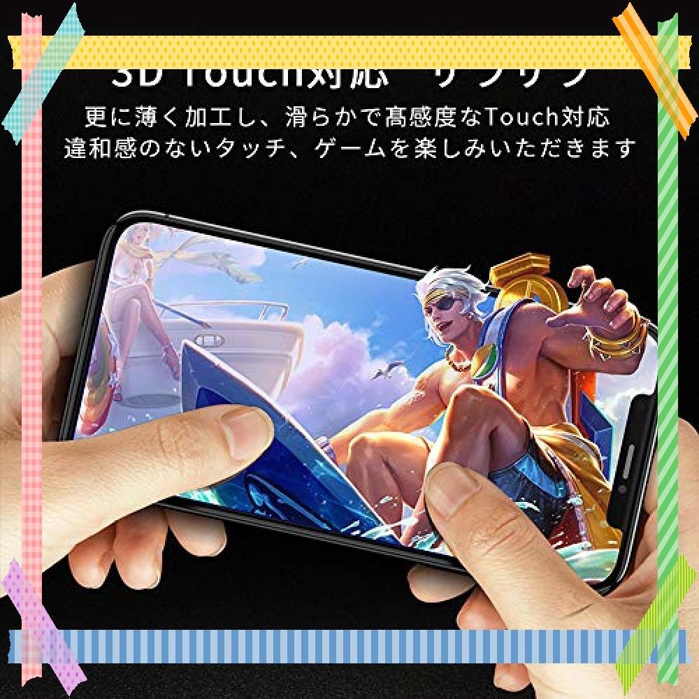 ★特別価格!!★ G-luck【二枚セット】iphone XR 強化ガラス液晶保護フィルム 高透過率 飛散防止 硬度9H 指紋防_画像7