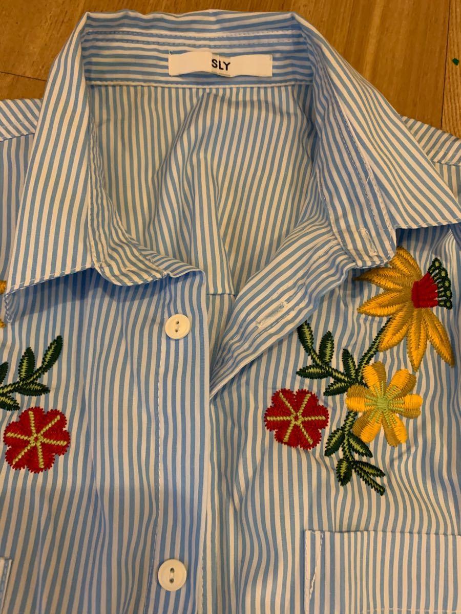 新品SLY ストライプシャツ 長袖シャツ