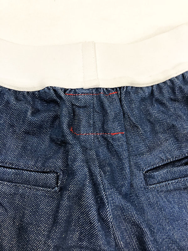 SYU. HOMME FEMM シュウ オム フェム Back curve slit pants by Denim テーパード デニム パンツ 1 ネイビー インディゴ 裾ジップ H19SS-22_画像5