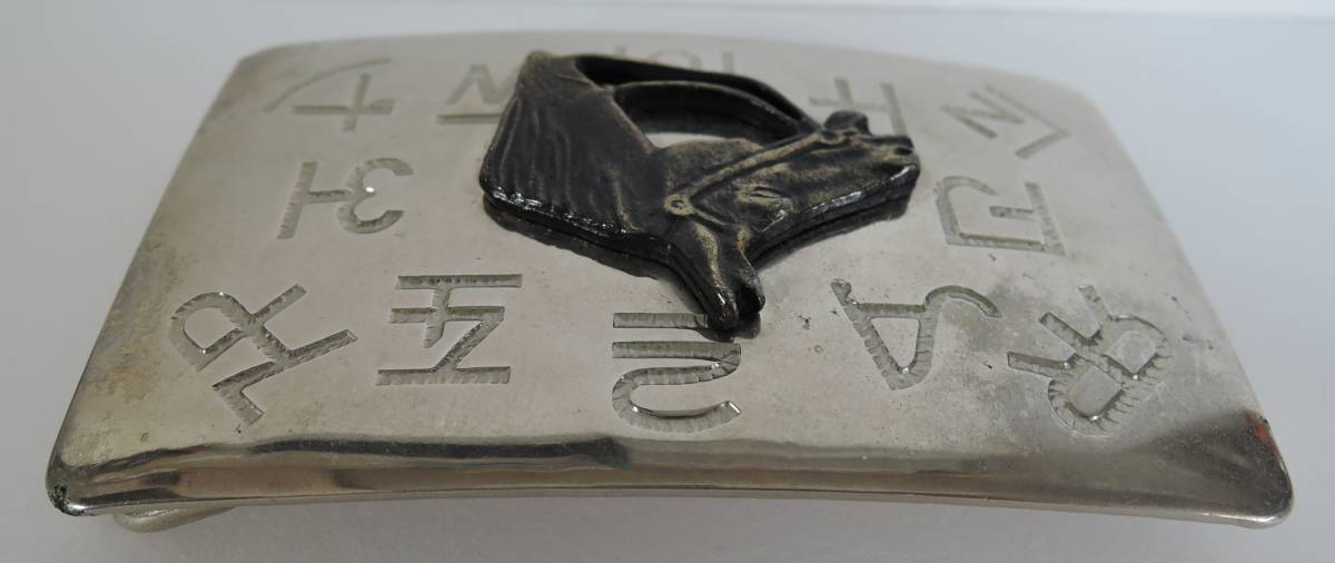 ☆06E■バックル 馬■CHAMBERS BELT USA製 ベルトバックル_画像3