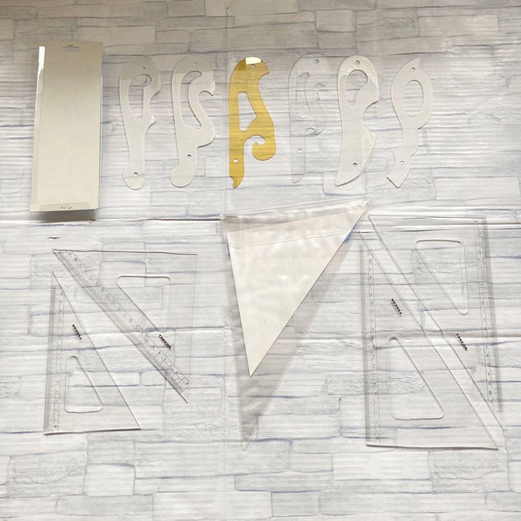 【使用済み】大人気 製図道具セット 雲型定規 テンプレート 工学部 大学 授業 タケダ製図器 シャーペン コンパス 機械 設計 ケース 箱梱包_画像10