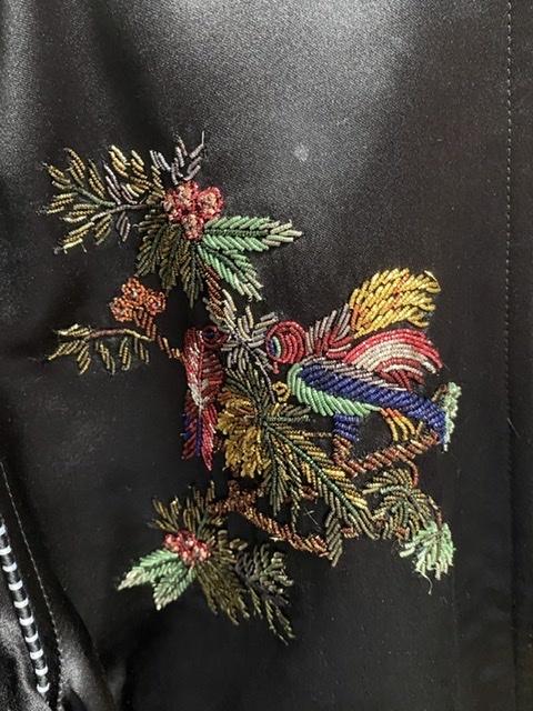 国内正規品 19SS SAINT LAURENT PARIS サンローラン パリ バード オブ パラダイス 刺繍 バーシティ ジャケット スカジャン 44_画像2
