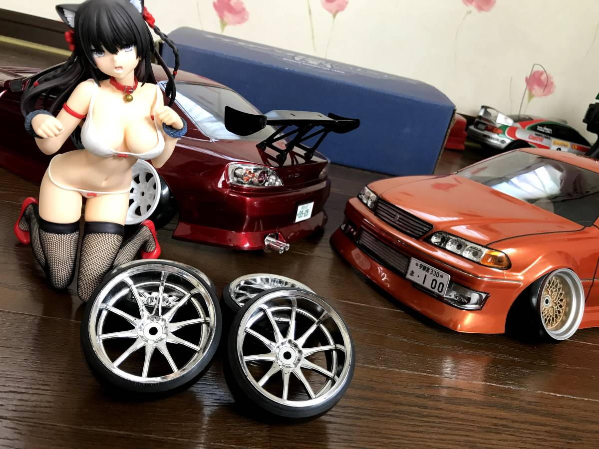 送料無料 ラジコン タイヤ ホイール セット ① hpi ドリフト 深リム