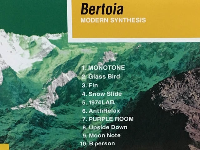Bertoia / Modern Synthesis シューゲイザー ギターポップ エレクトロニカ 名盤 Swimmingpoo1 / My Bloody Valentine / Lush / Pale Saints_画像3