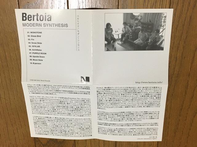 Bertoia / Modern Synthesis シューゲイザー ギターポップ エレクトロニカ 名盤 Swimmingpoo1 / My Bloody Valentine / Lush / Pale Saints_画像6