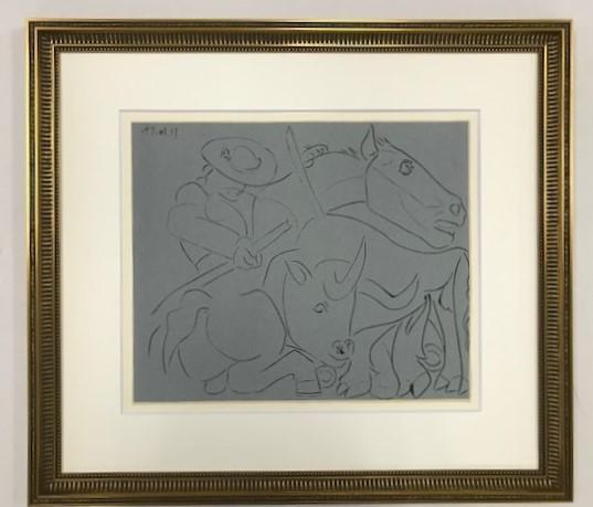 【特価】 ≪  パブロ・ピカソ  ≫  LINOLEUM-CUTS【リノカット版画】  THE BROKEN LANCE  1962年  PABLO PICASSO