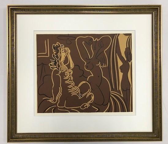【特価】 ≪  パブロ・ピカソ  ≫  LINOLEUM-CUTS【リノカット版画】  THREE WOMEN  1962年  PABLO PICASSO