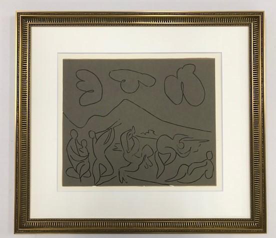 【特価】 ≪  パブロ・ピカソ  ≫  LINOLEUM-CUTS【リノカット版画】  BACCHANAL WITH MOTHER AND CHILD 1962年  PABLO PICASSO