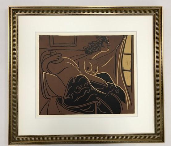 【特価】 ≪  パブロ・ピカソ  ≫  LINOLEUM-CUTS【リノカット版画】  WOMEN AT THE WINDOW  1962年  PABLO PICASSO