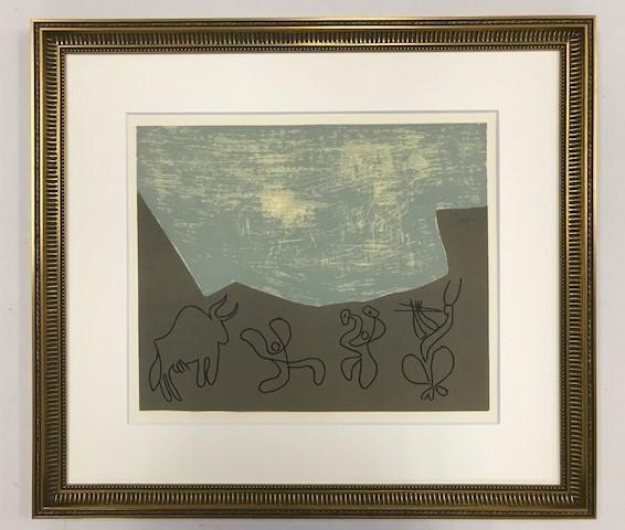 【特価】 ≪  パブロ・ピカソ  ≫  LINOLEUM-CUTS【リノカット版画】  BACCHANAL WITH BULL   1962年  PABLO PICASSO