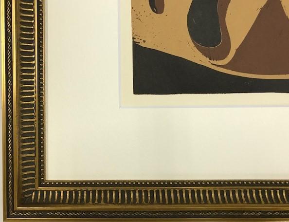 【特価】 ≪  パブロ・ピカソ  ≫  LINOLEUM-CUTS【リノカット版画】  PICADOR AND FLEEING BULL   1962年  PABLO PICASSO