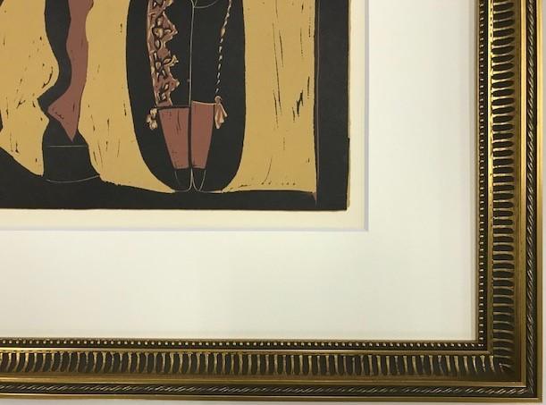 【特価】 ≪  パブロ・ピカソ  ≫  LINOLEUM-CUTS【リノカット版画】  PICADOR AND MATADOR  1962年  PABLO PICASSO