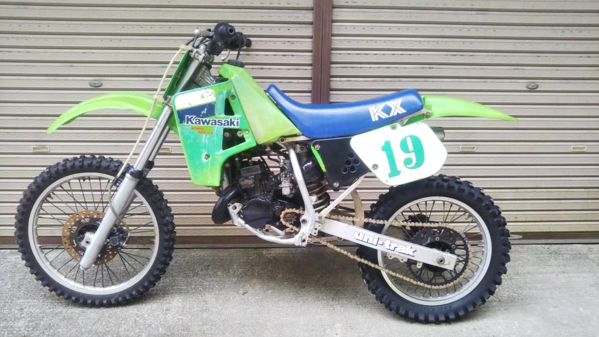 「Kawasaki KX125 KX125E 1986年 始動 現状車 レーサー モトクロッサー モトクロス エンデューロ」の画像2