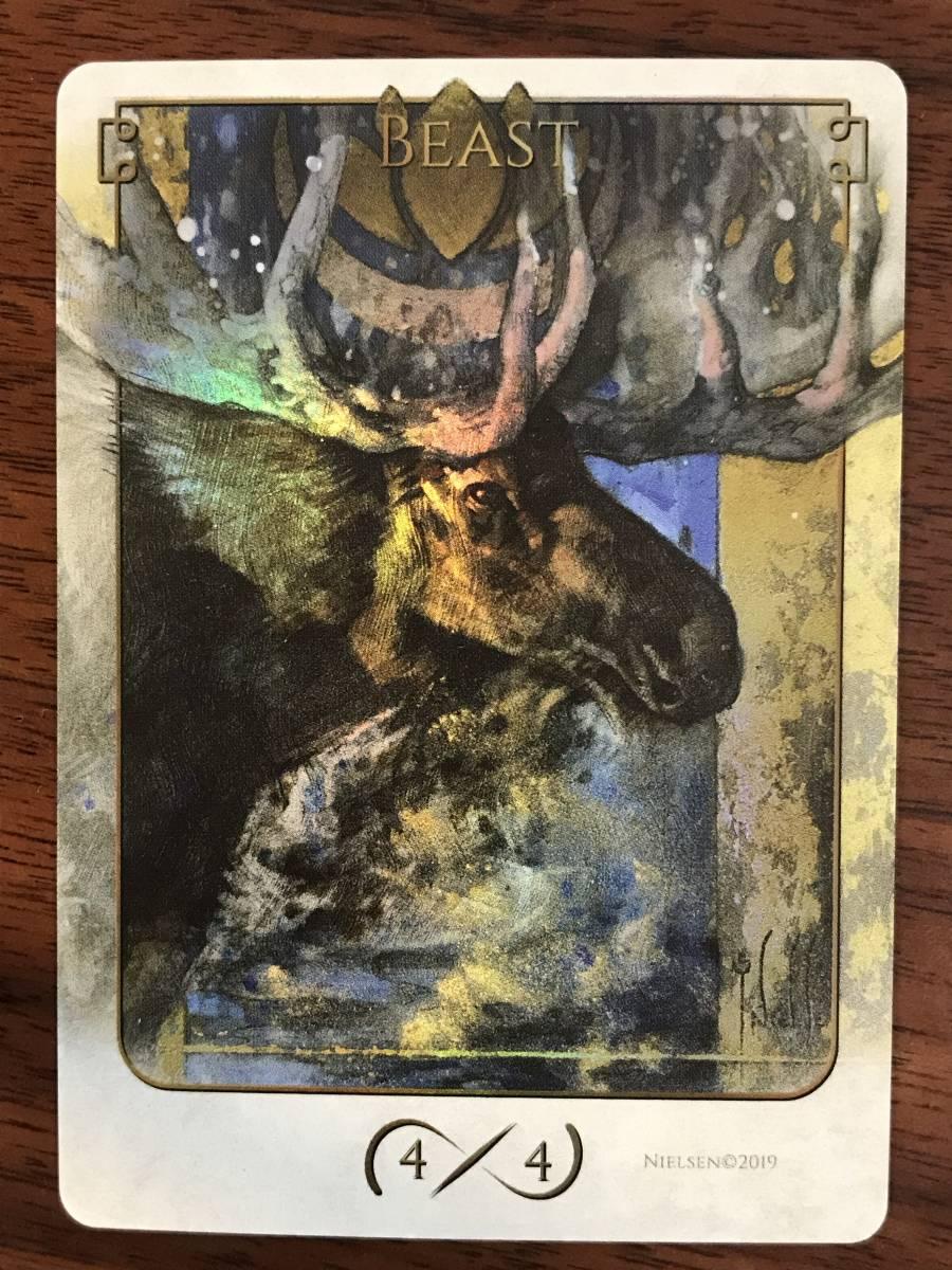 MTG ■トークン■『 ビースト/BEAST 4/4』★FOIL★ Terese Nielsen's Tokens of Spirit_画像1