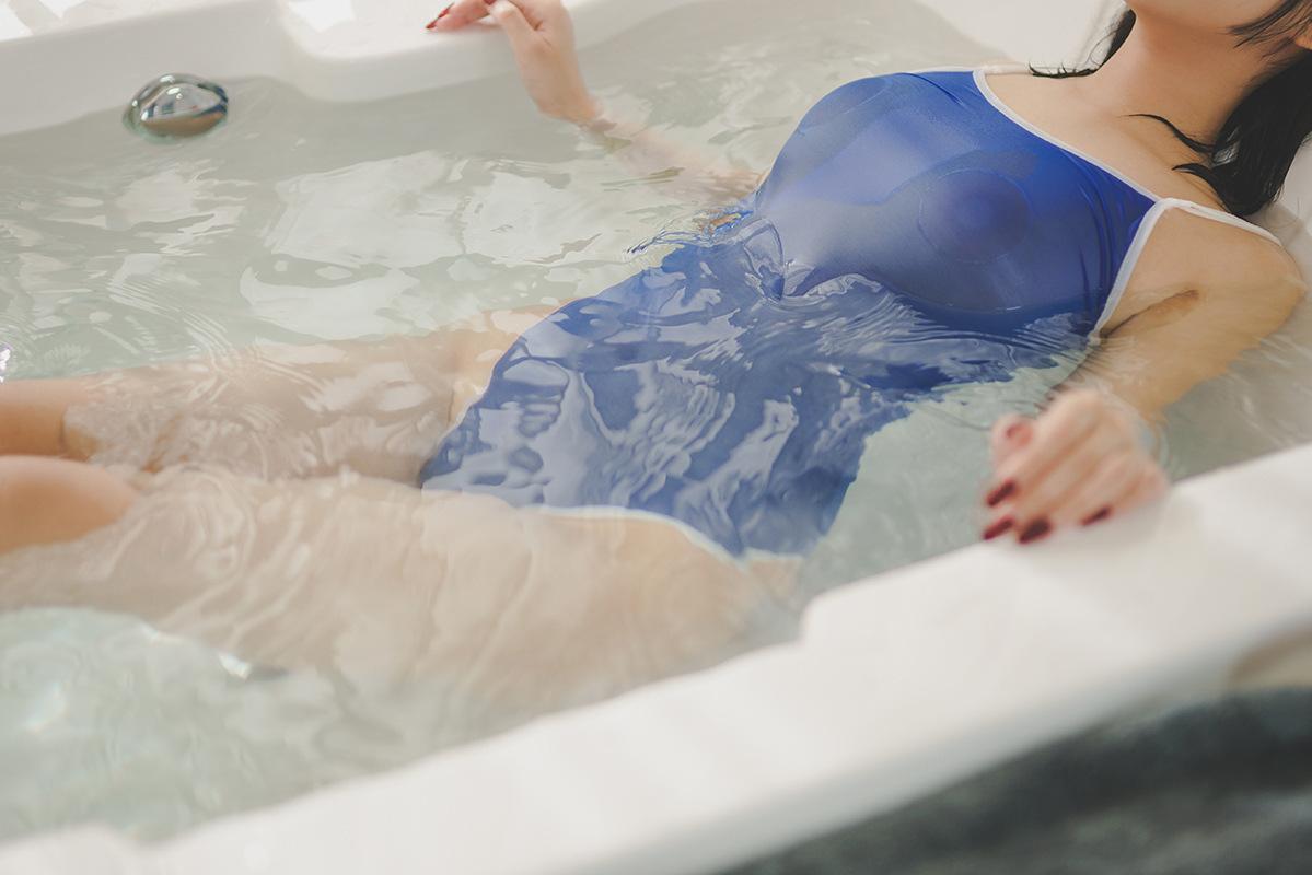 セクシー可愛い 光沢 ハイレグレオタード 肩紐外す可能 超肌触りの良い 水着 スク水 コスプレ レースクイーン ブルー y02D_画像9