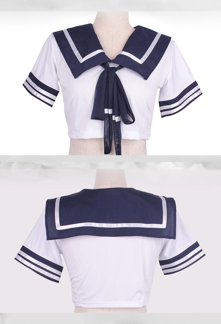 超セクシー 可愛い学生服 セーラー服 ミニスカート コスプレ衣装 制服 Lサイズ z45B_画像7