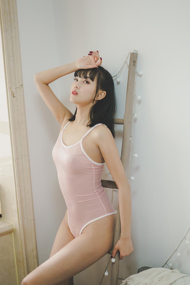 セクシー可愛い 光沢 ハイレグレオタード 肩紐外す可能 超肌触りの良い 水着 スク水 コスプレ レースクイーン ピンク y02C_画像9