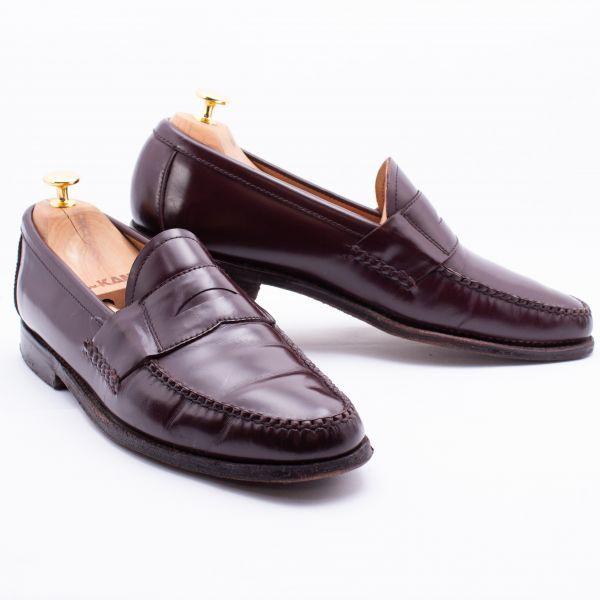 即決 REGAL リーガル コインローファー ブラウン 茶色 メンズ 本革 本皮 レザー 革靴 26.5cm ビジネスシューズ カジュアル 紳士靴 0477_画像2