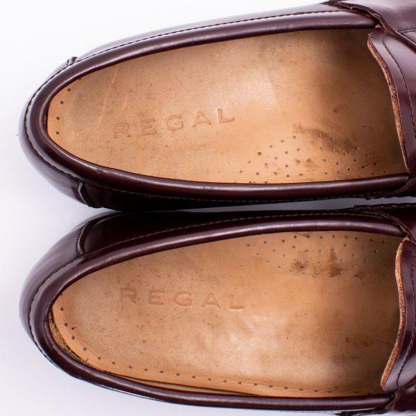 即決 REGAL リーガル コインローファー ブラウン 茶色 メンズ 本革 本皮 レザー 革靴 26.5cm ビジネスシューズ カジュアル 紳士靴 0477_画像7