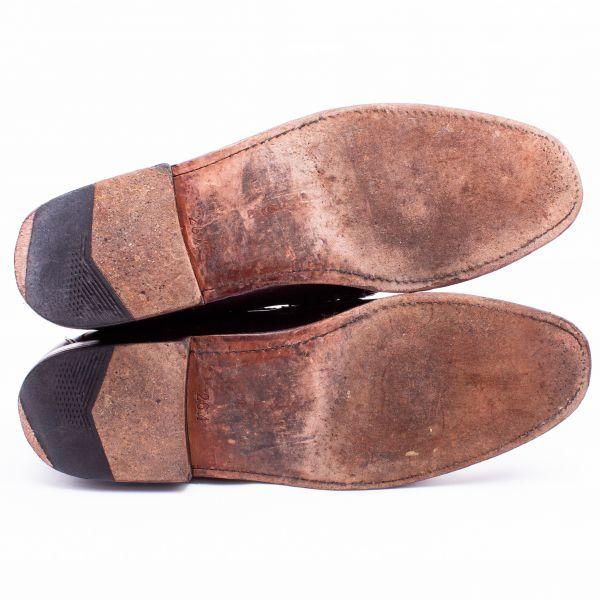 即決 REGAL リーガル コインローファー ブラウン 茶色 メンズ 本革 本皮 レザー 革靴 26.5cm ビジネスシューズ カジュアル 紳士靴 0477_画像5