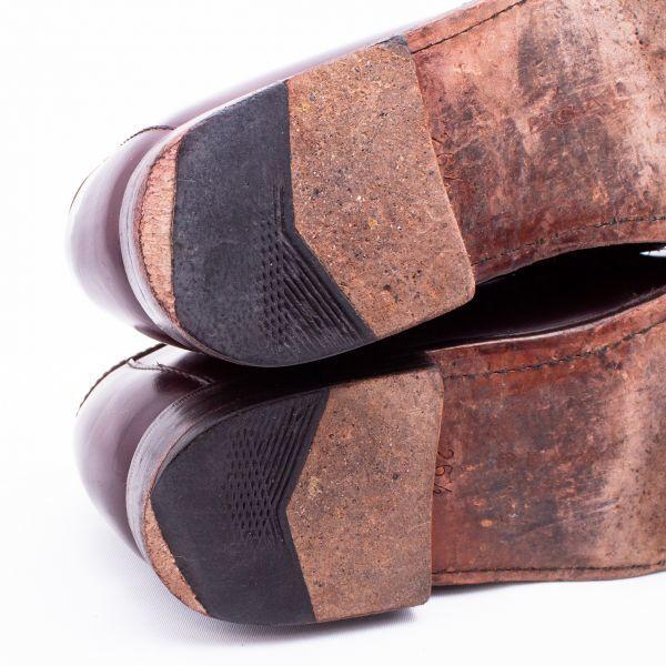 即決 REGAL リーガル コインローファー ブラウン 茶色 メンズ 本革 本皮 レザー 革靴 26.5cm ビジネスシューズ カジュアル 紳士靴 0477_画像6