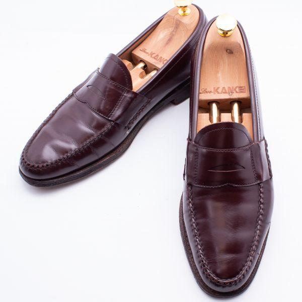 即決 REGAL リーガル コインローファー ブラウン 茶色 メンズ 本革 本皮 レザー 革靴 26.5cm ビジネスシューズ カジュアル 紳士靴 0477_画像1