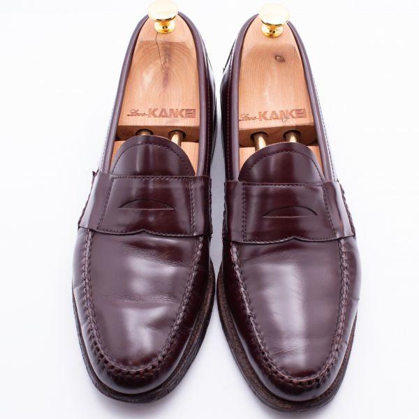 即決 REGAL リーガル コインローファー ブラウン 茶色 メンズ 本革 本皮 レザー 革靴 26.5cm ビジネスシューズ カジュアル 紳士靴 0477_画像3