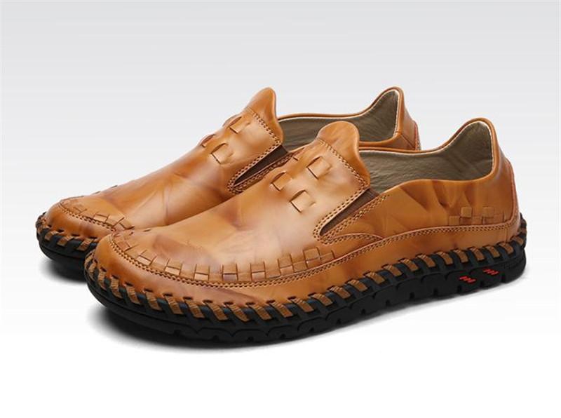 【送料無料】ローファー 新品 スリッポン ローカット カジュアル 紳士靴 ドライビングシューズ 快適 軽量 メンズ ブラウン 25.5cm 4364_画像3