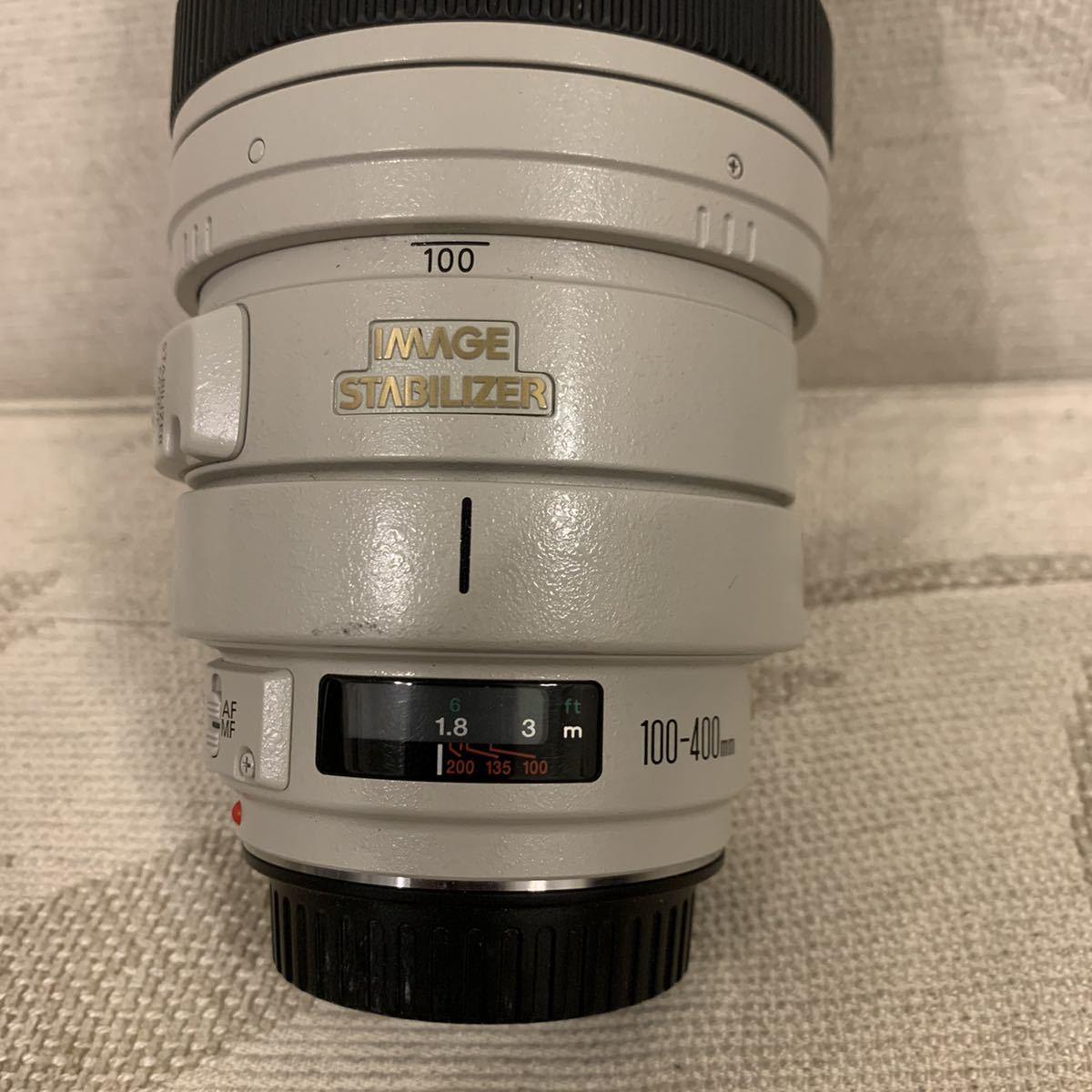 格安スタート!Canon キャノン ZOOM LENS EF 100-400㎜ 1:4.5-5.6 L IS USM ULTRASONIC IMAGE STABILIZER フード ケース付_画像3