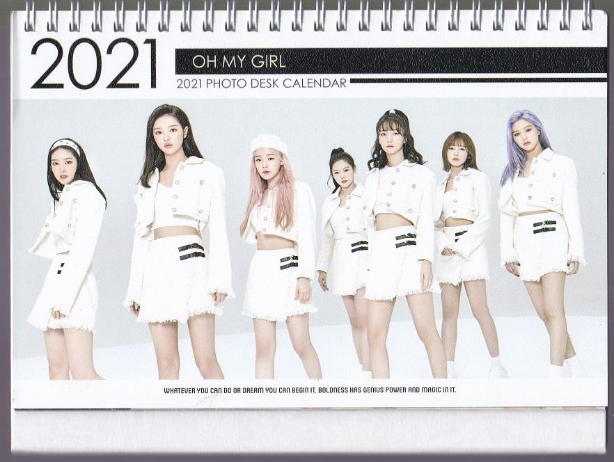 ☆New!■OH MY GIRL/オーマイガール■2021-22年度ホワイト卓上カレンダー☆韓国_画像2