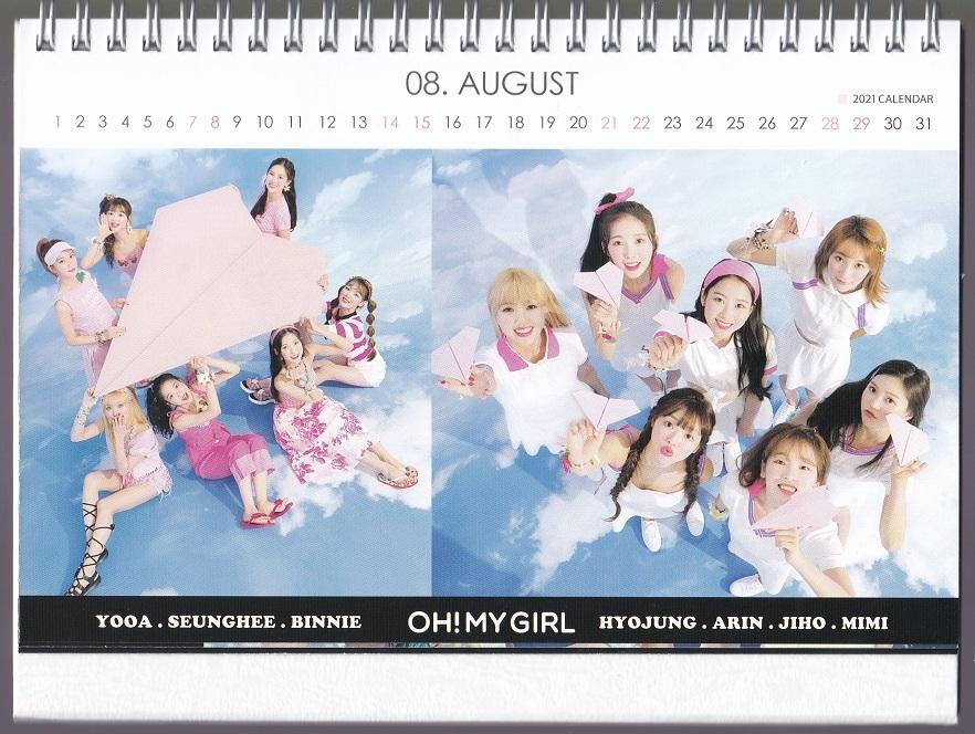 ☆New!■OH MY GIRL/オーマイガール■2021-22年度ホワイト卓上カレンダー☆韓国_画像3