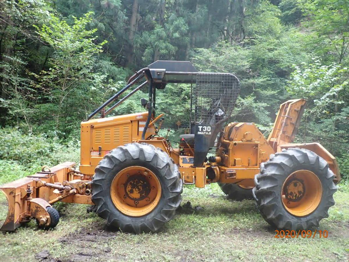 「イワフジ T30 ロギング ウインチ 林業 集材 除雪 4WD タイヤチェーン4本付き」の画像2