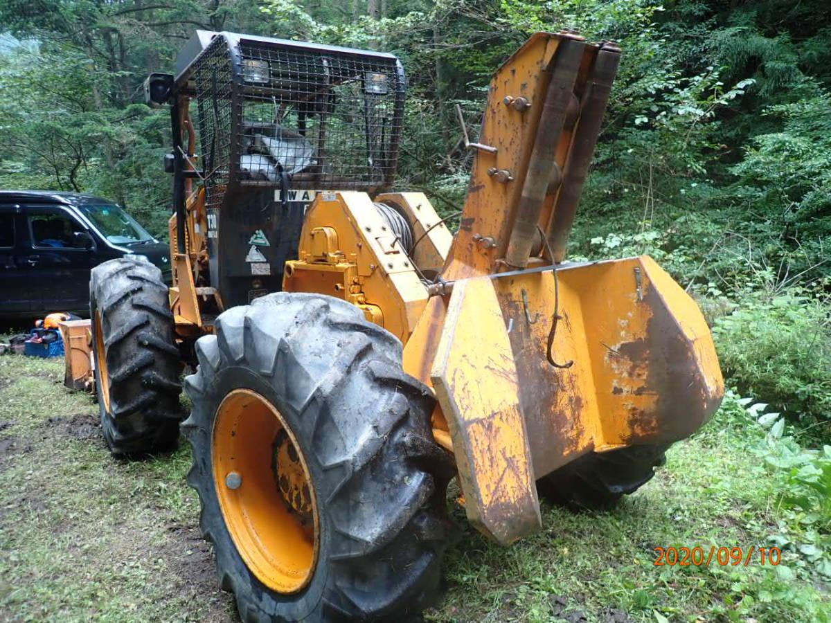 「イワフジ T30 ロギング ウインチ 林業 集材 除雪 4WD タイヤチェーン4本付き」の画像3