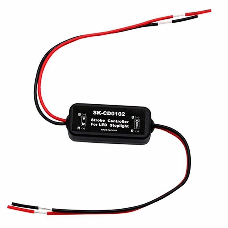 GS-100Aフラッシュストロボコントローラフラッシャーモジュール車ledのブレーキストップライトランプ 12-24vショート回路保護CD0100/01/02_画像3